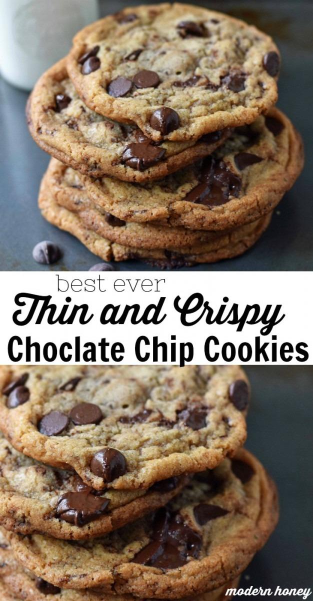 Thin And Crispy Chocolate Chip Cookies – Modern Honey