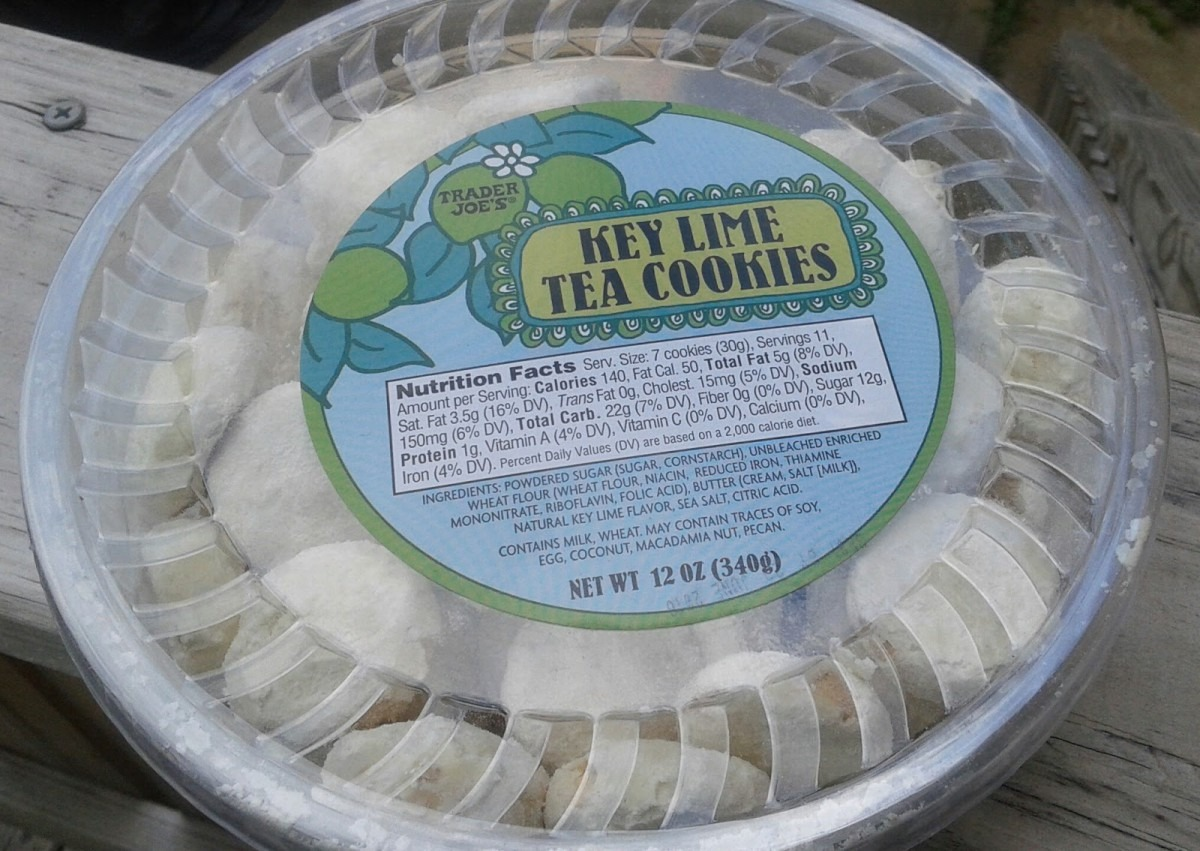 What's Good At Trader Joe's   Trader Joe's Key Lime Tea Cookies
