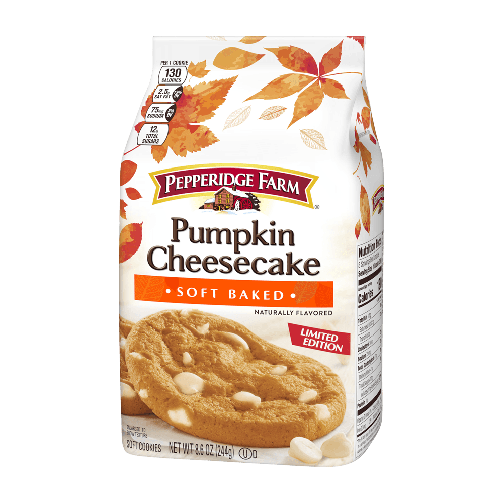 Soft Baked Pumpkin Cheesecake Cookies, Naturally Flavored