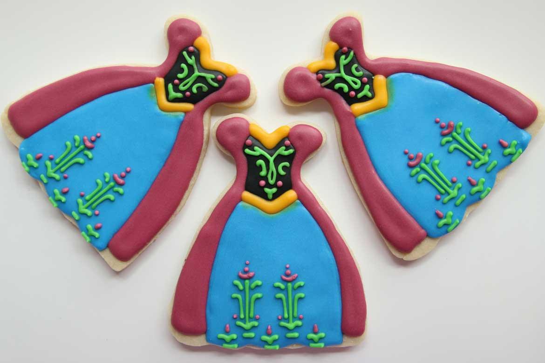 Frozen Anna Dress Cookies