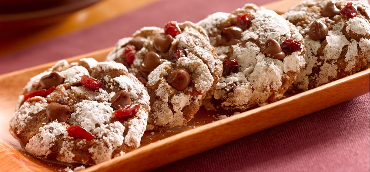 Chocolate Anise Cookies With Dried Sour Cherries