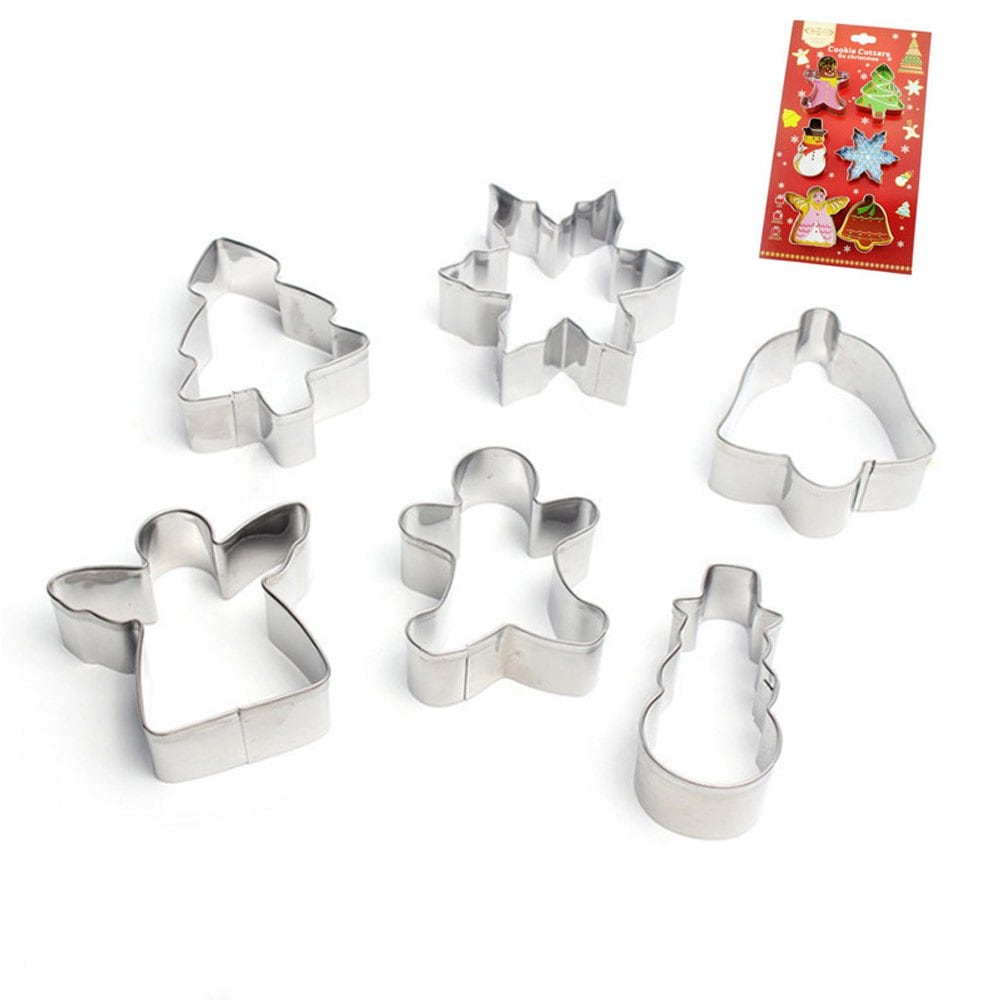 2019 6 Pieces Christmas Cookie Cutters Set