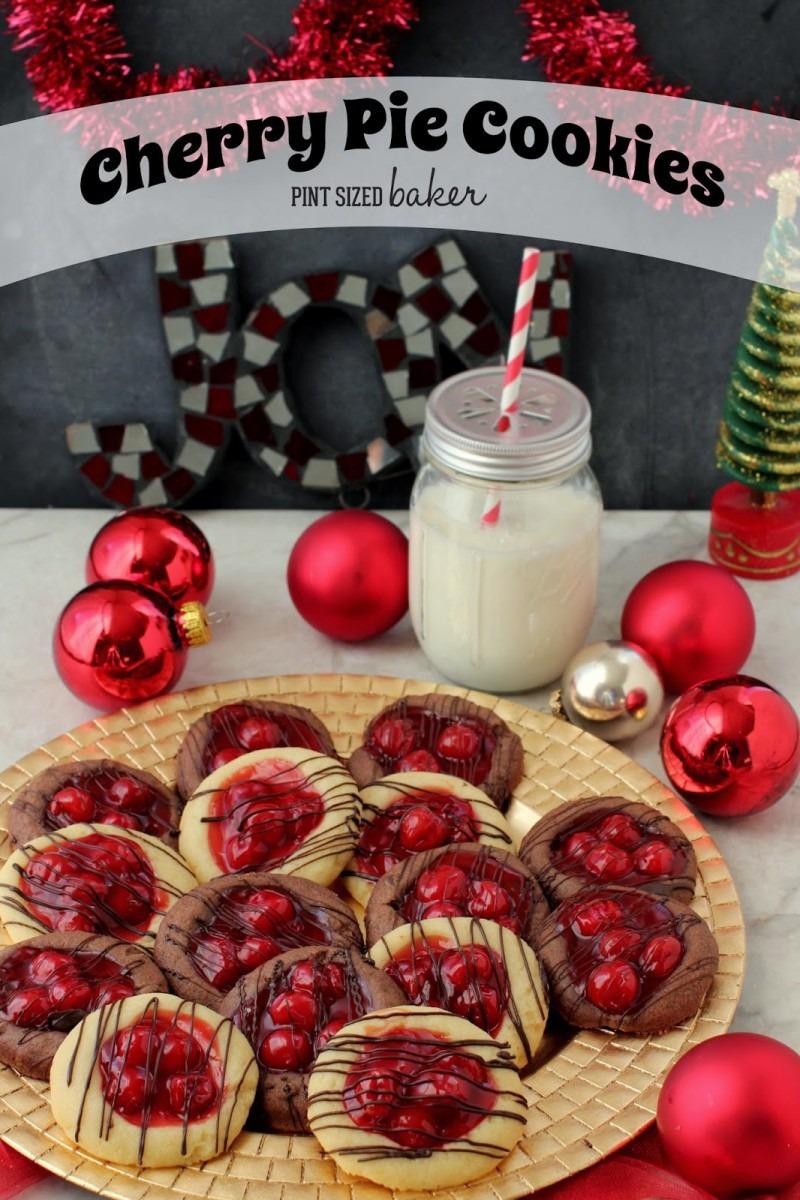 Easy Cherry Pie Thumbprint Cookies