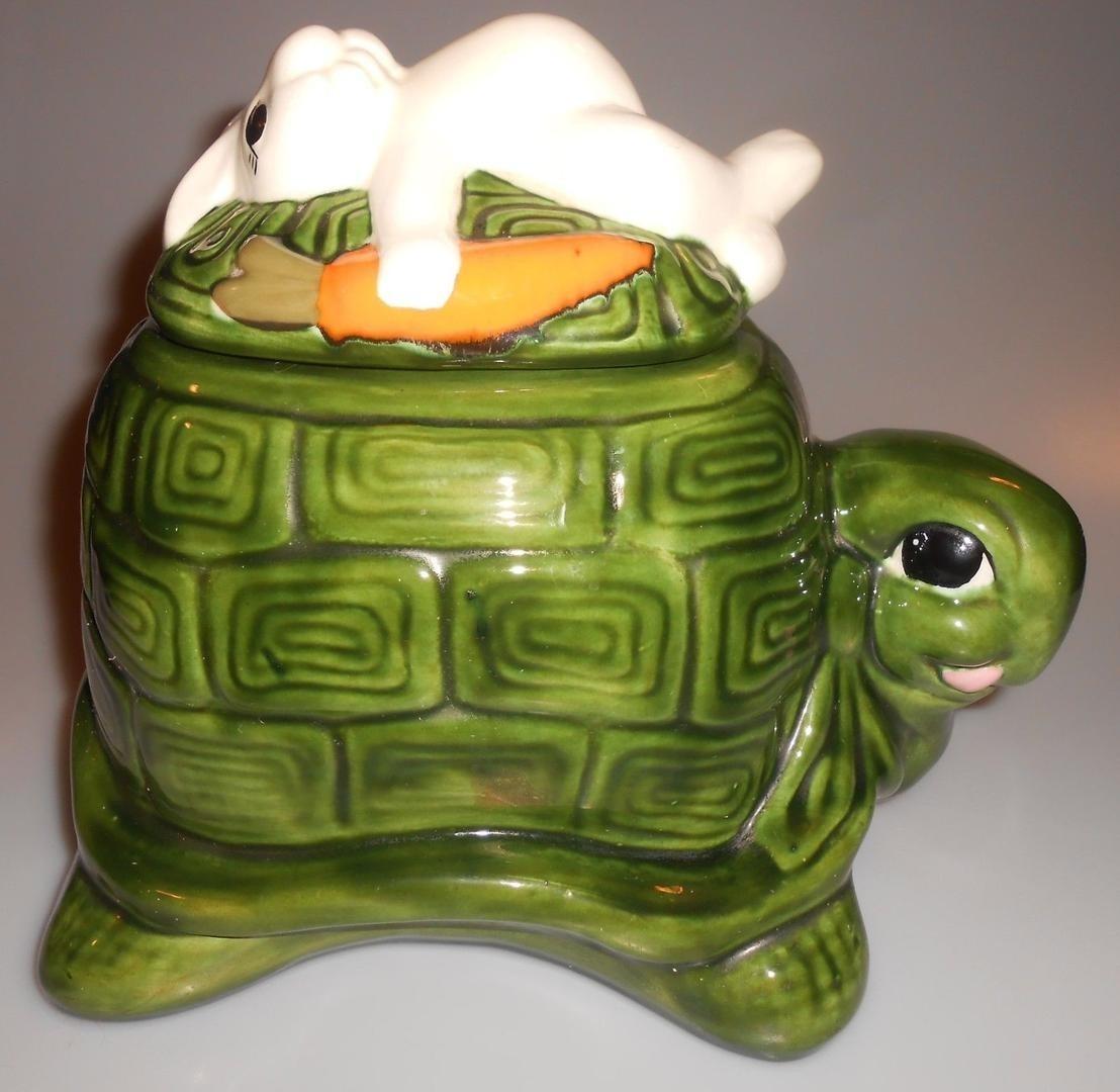 Vintage Tortoise & The Hare Cookie Jar Hummel Custom Gifts