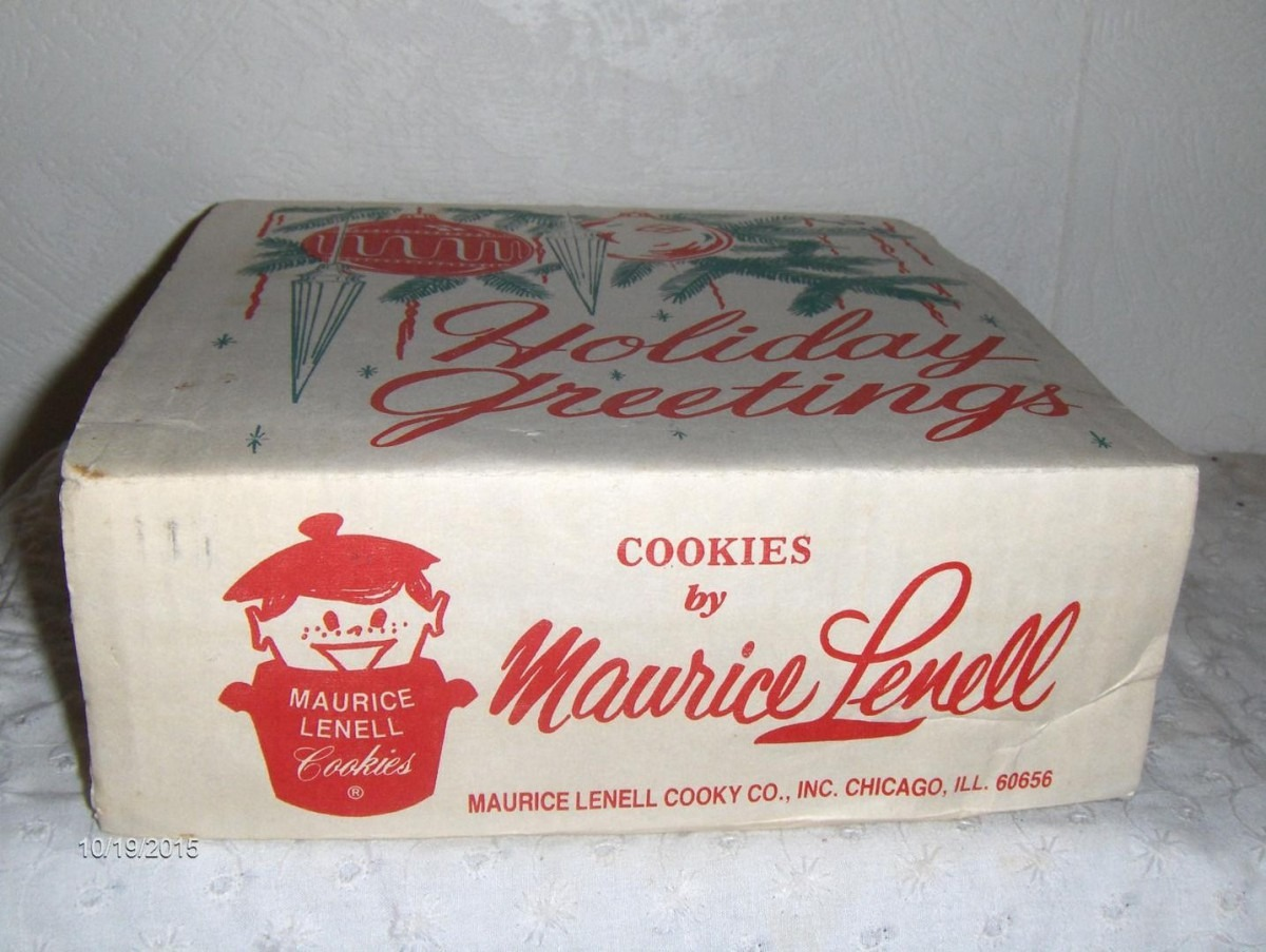 Maurice Lenell 10  Round Cookie Tin