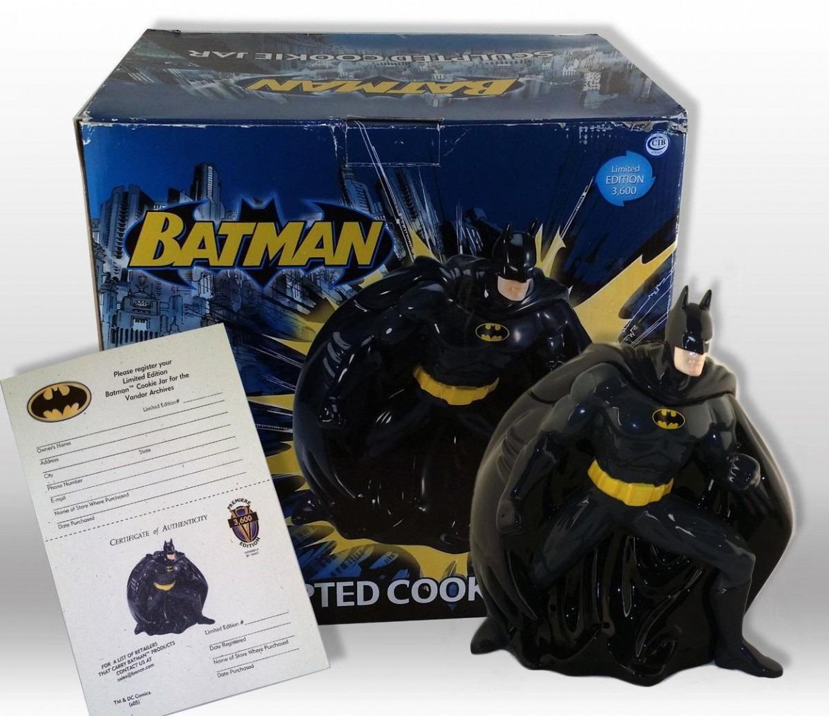 Batman Sculpted Cookie Jar Vandor Bm  76342 Roger Sun Dc Comics
