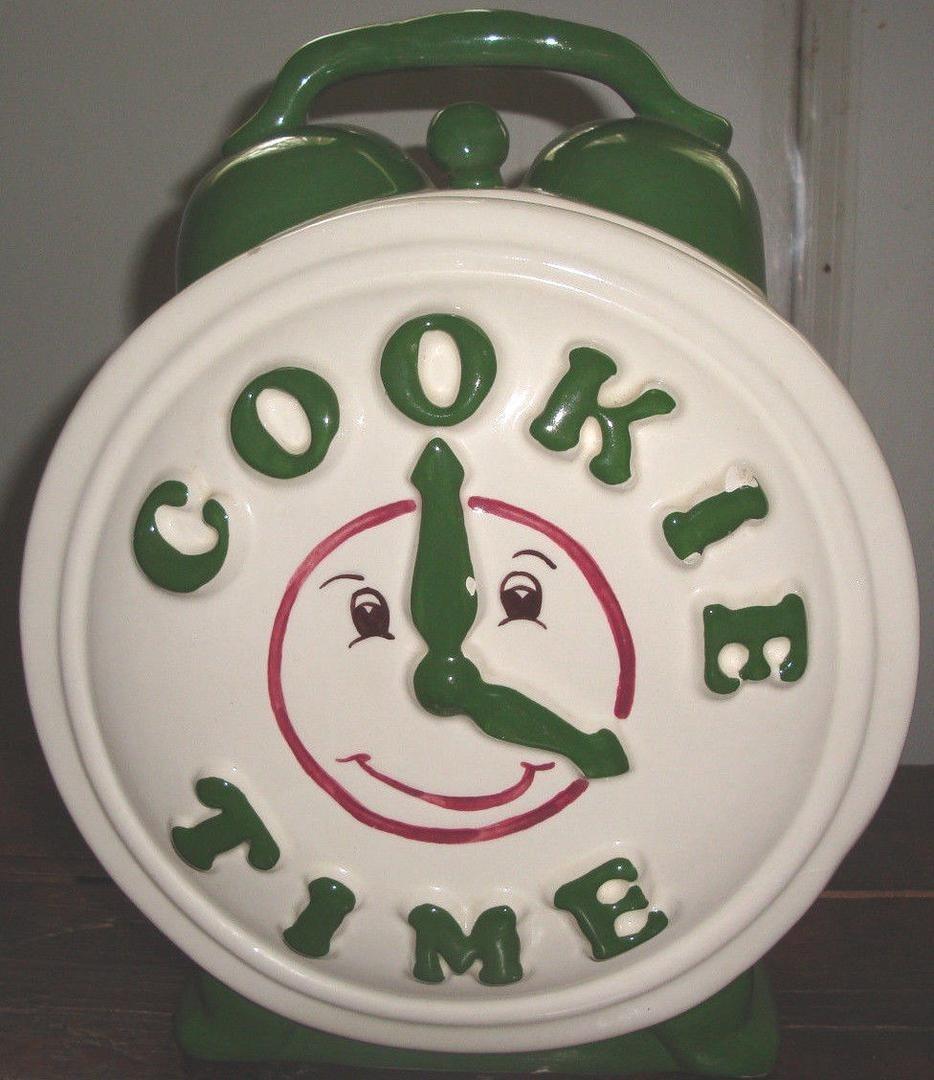 Vintage Treasure Craft  Cookie Time  Cookie Jar! Seen On  Friends
