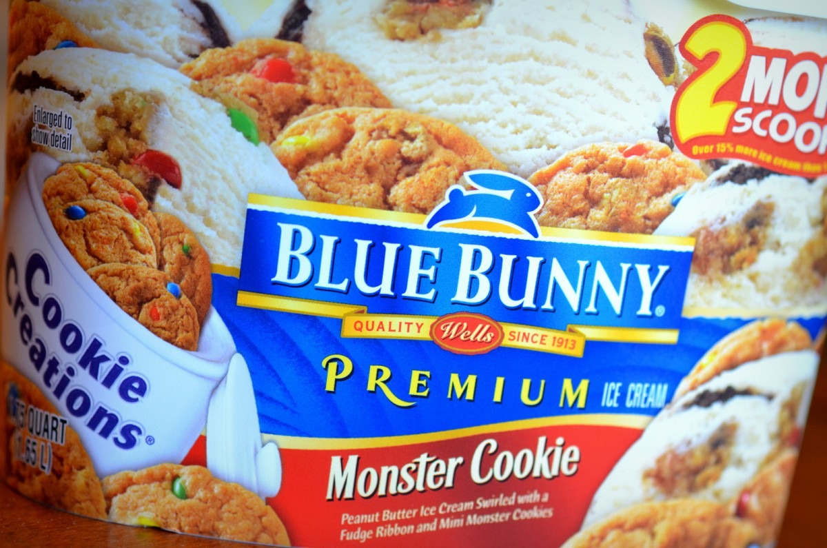 Food And Ice Cream Recipes  Review  Blue Bunny Monster Cookie