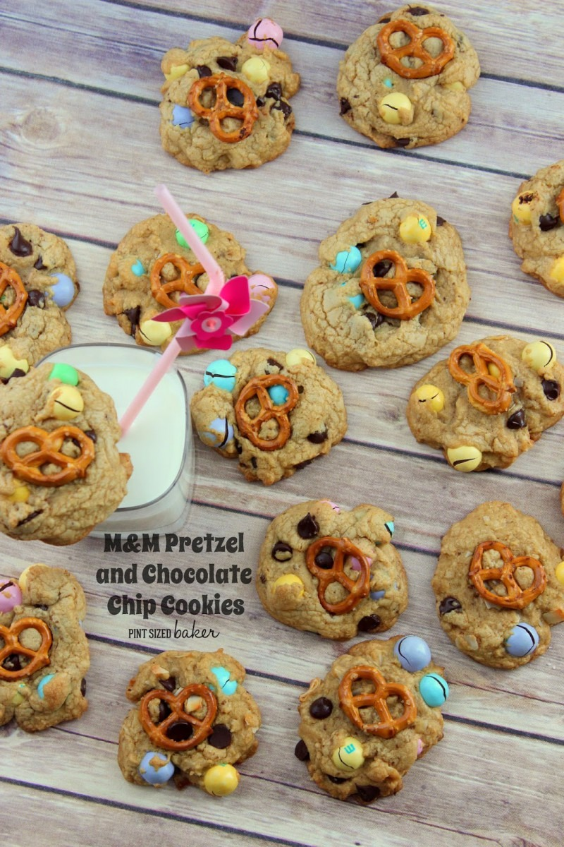 M And M Pretzel Chocolate Chip Cookies
