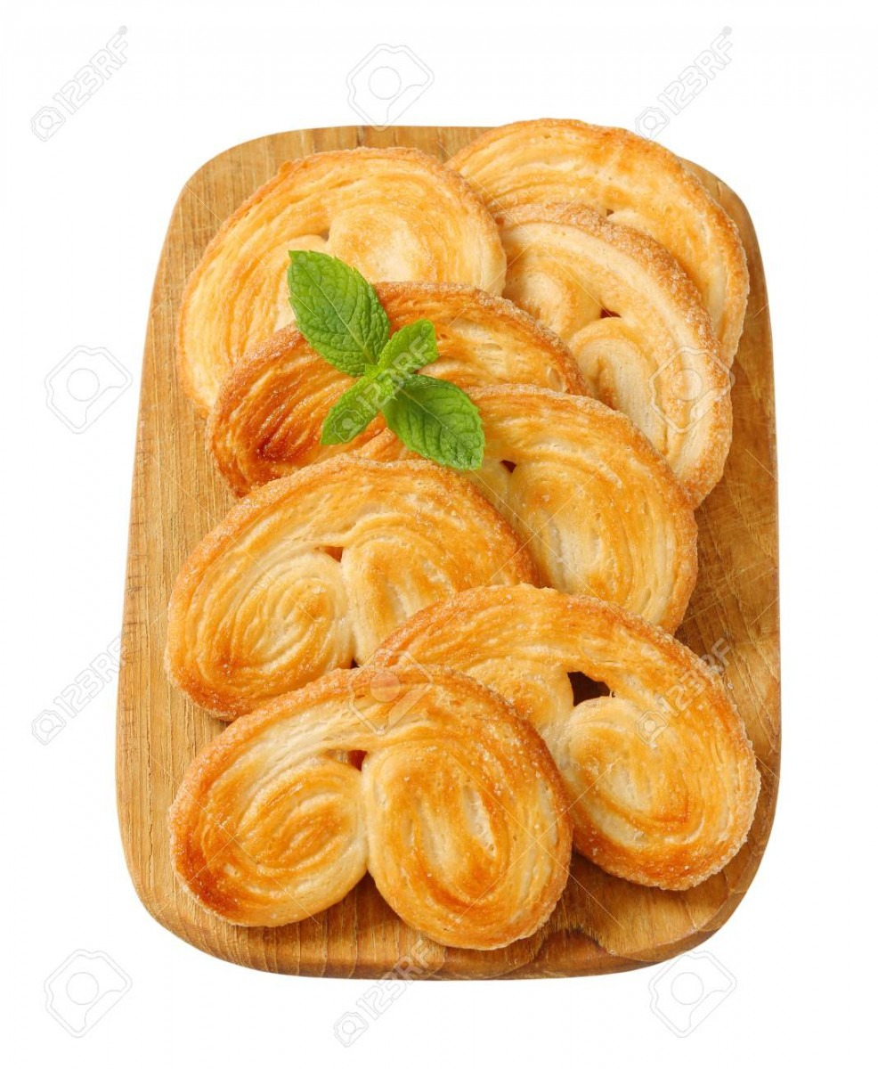 Elephant Ear Cookies Coated With Sugar Stock Photo, Picture And