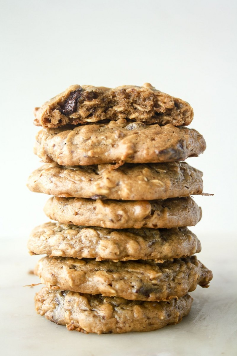 Soft And Chewy Peanut Butter Oat Cookies, Without Flour, Refined