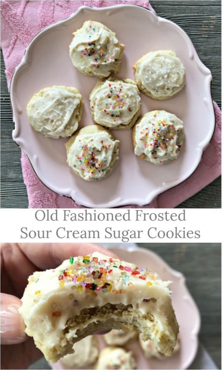 Old Fashioned Frosted Sour Cream Sugar Cookies
