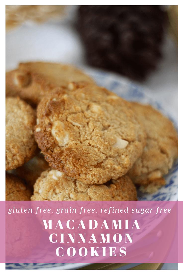Macadamia Cinnamon Cookies