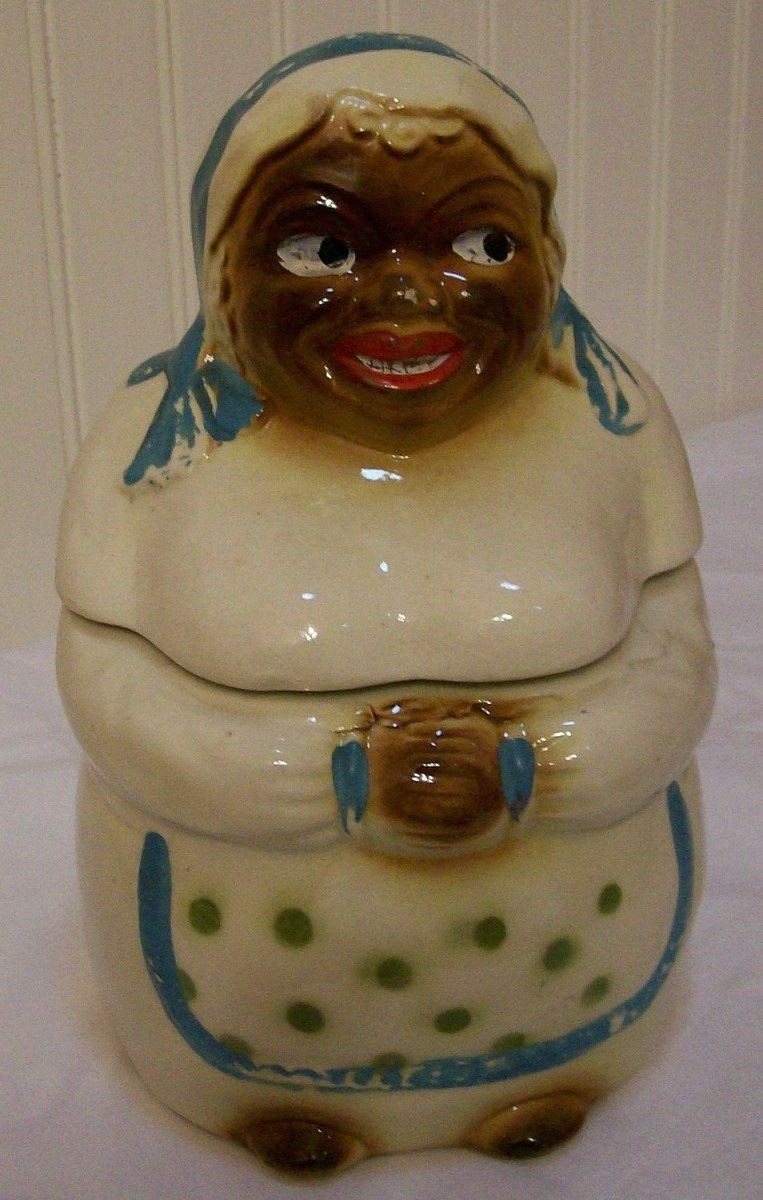Vintage Cookie Jar Mammy National Silver Co  Circa 1950s