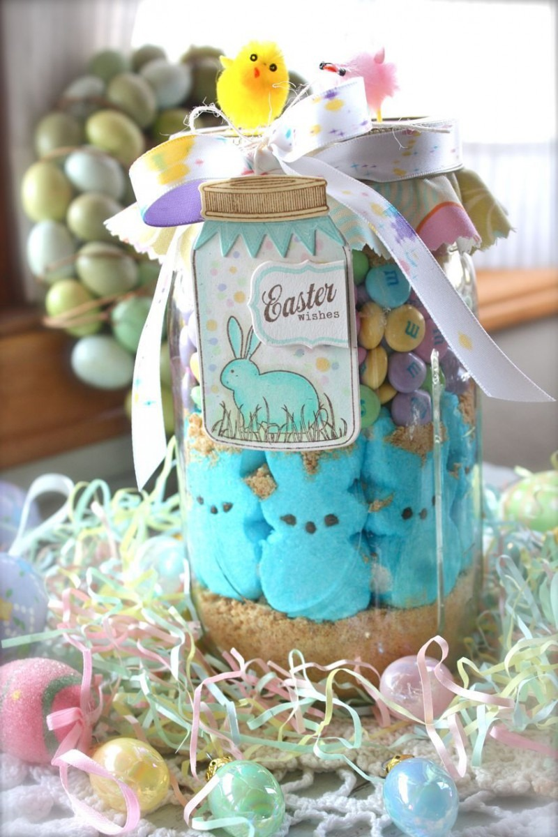 Peep Show Cookies In A Jar Love For Easter Gifts!  Easter  Gift