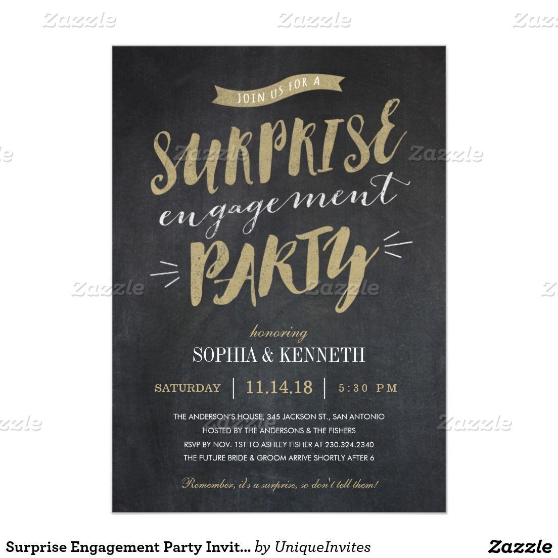 Surprise Engagement Party Invitations