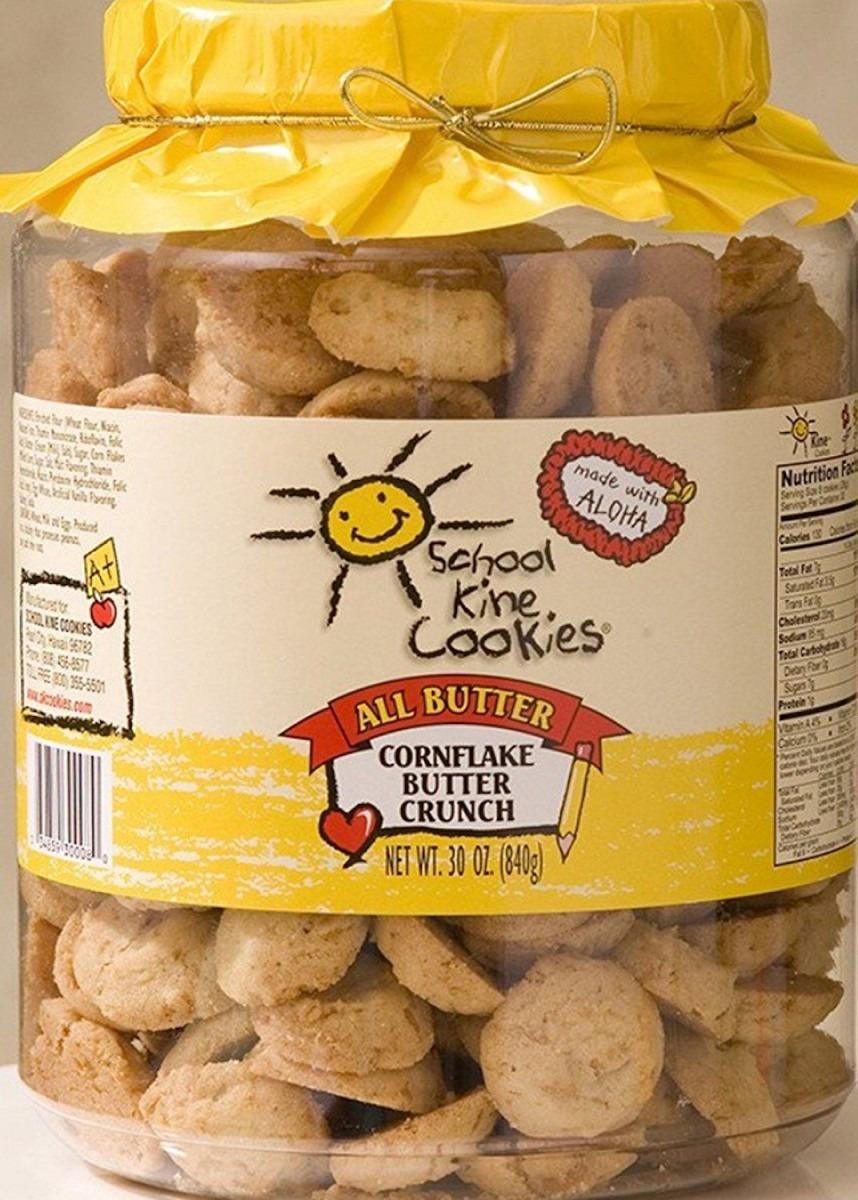 Hawaiian School Kine Cookies Cornflake Butter Crunch Large 30 Oz