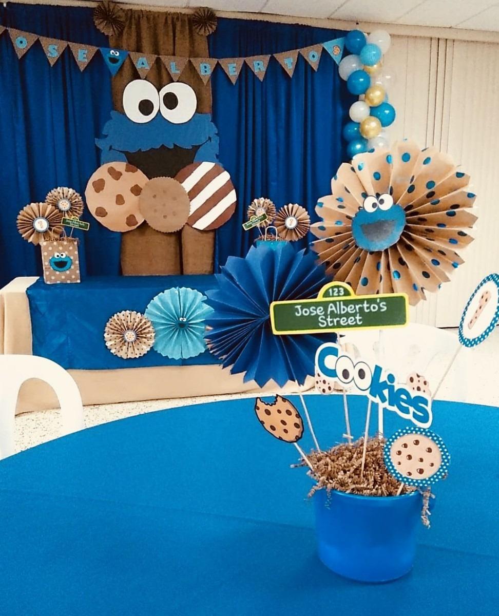 Cookie Monster Birthday Party  Diy Cookie Monster Decour  Diy