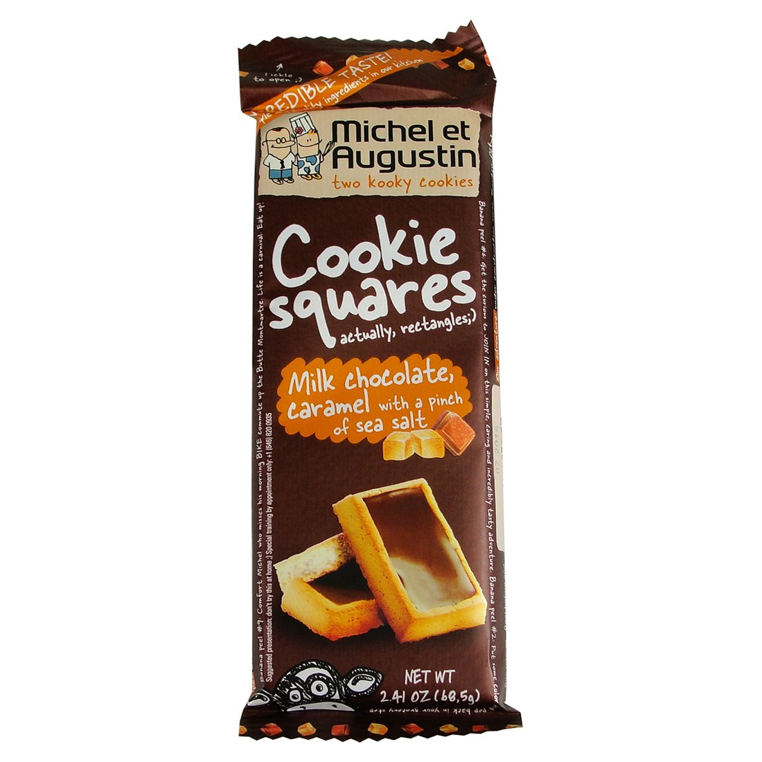 Michel Et Augustin Cookie Squares Milk Chocolate Caramel