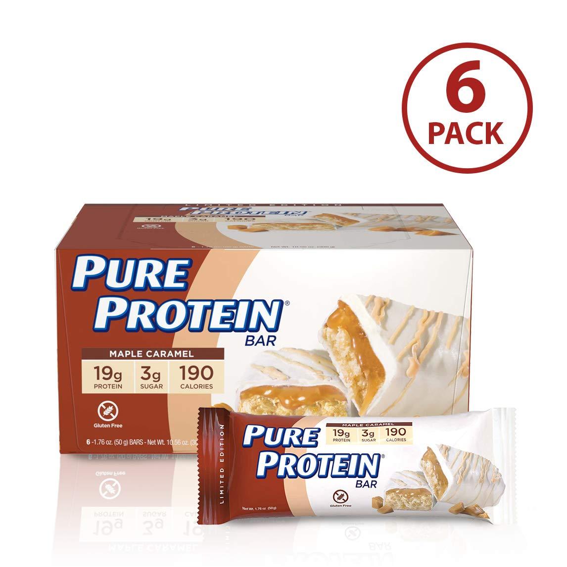Amazon Com  Pure Protein Bars, Gluten Free, Maple Caramel, 1 76 Oz