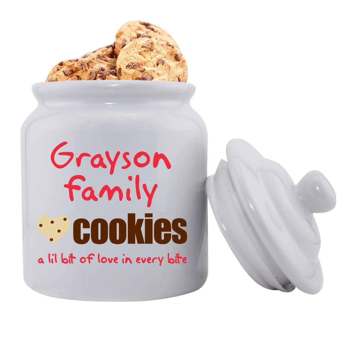 Amazon Com  Personalized Family Cookies Ceramic Cookie Jar