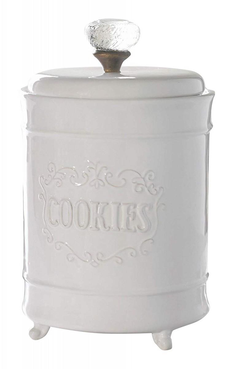 Amazon Com  Mud Pie Circa Cookie Jar, White  Kitchen & Dining