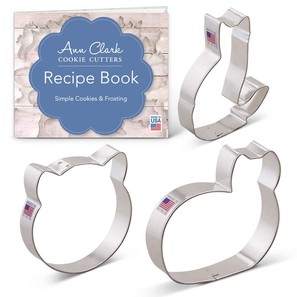 Amazon Com  Kitty Cat Cookie Cutter Set With Recipe Book
