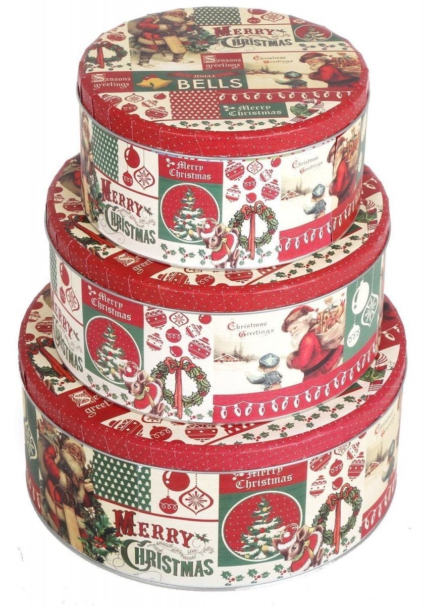 Small Holiday Cookie Tins