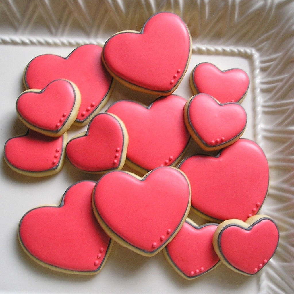 Heart Sugar Cookies With Royal Icing