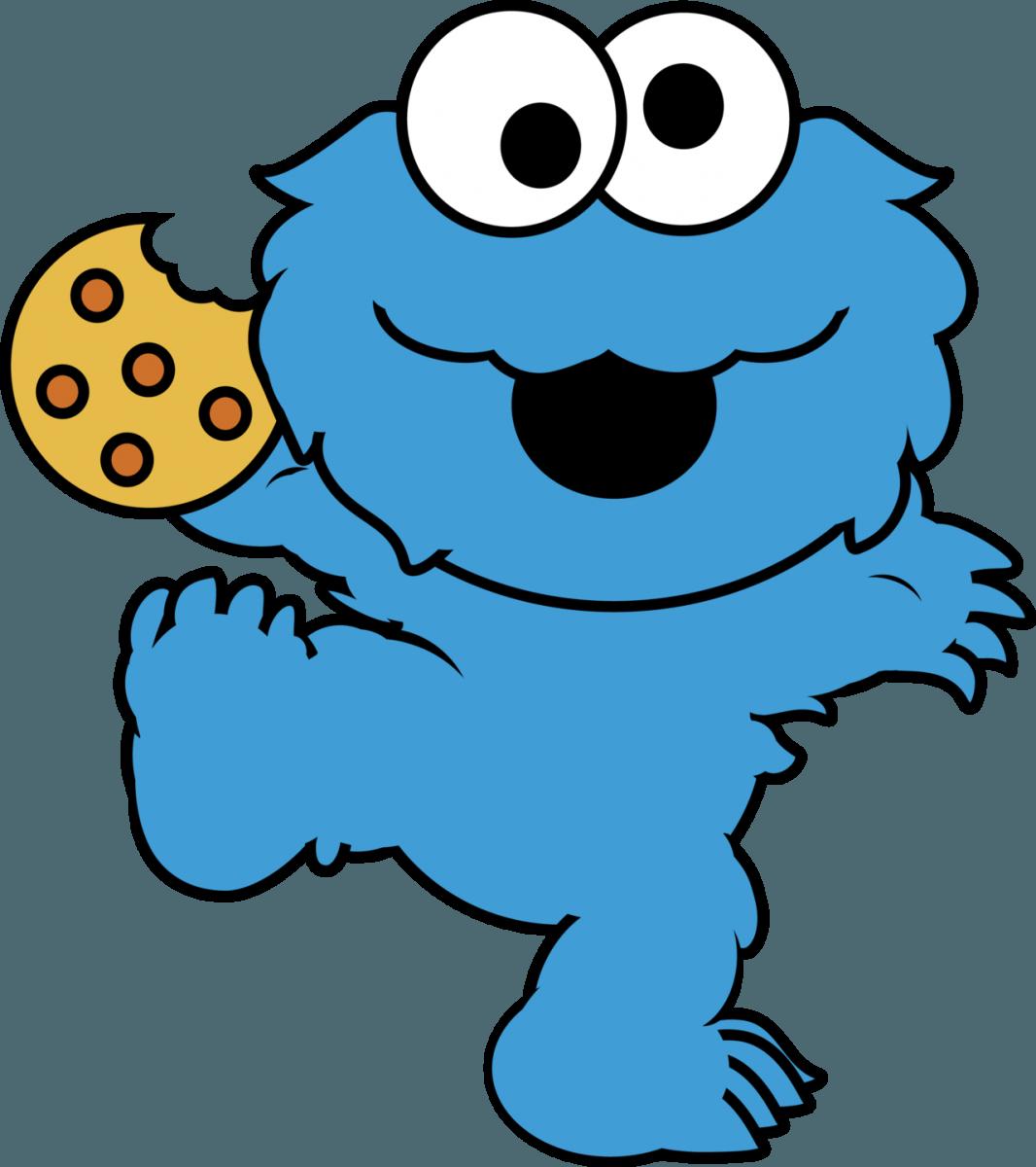Baby Cookie Monster Eating Cookies Cartoon