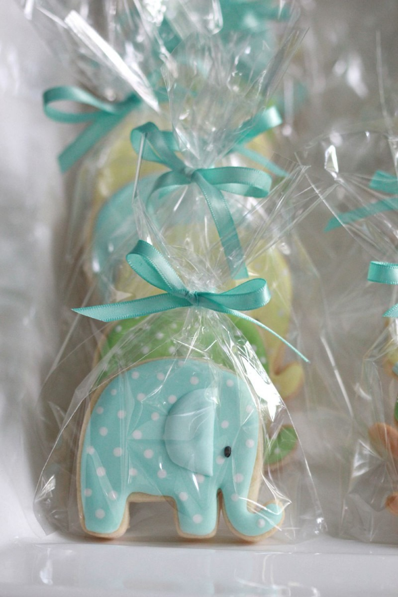 Elephant Baby Shower Cookie Favours