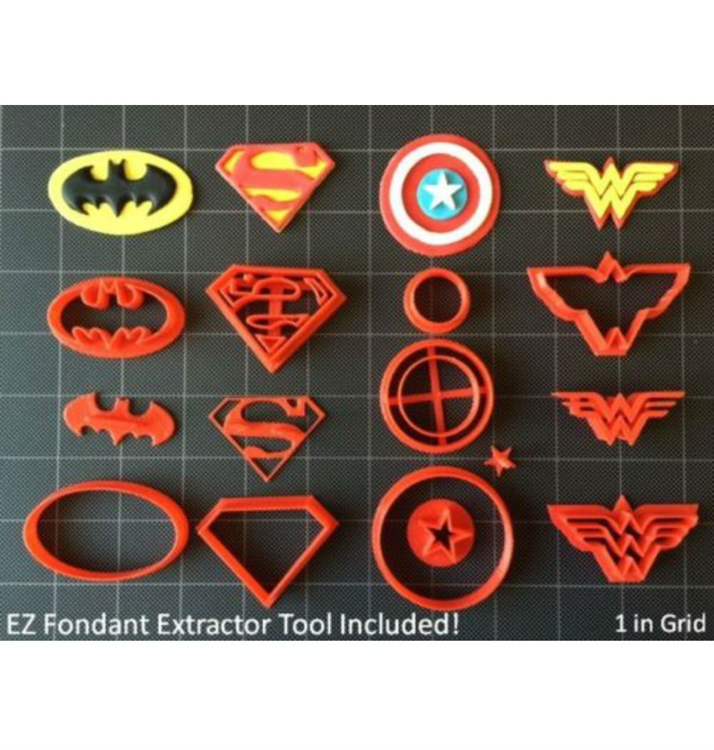 Amazon Com  Super Hero Cookie Cutter (set A)   Fondant Cutter