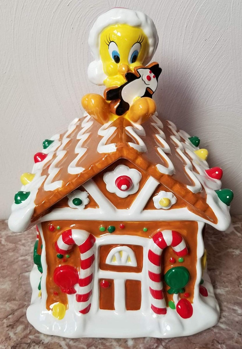 Amazon Com   Tweety Bird Gingerbread House Cookie Jar