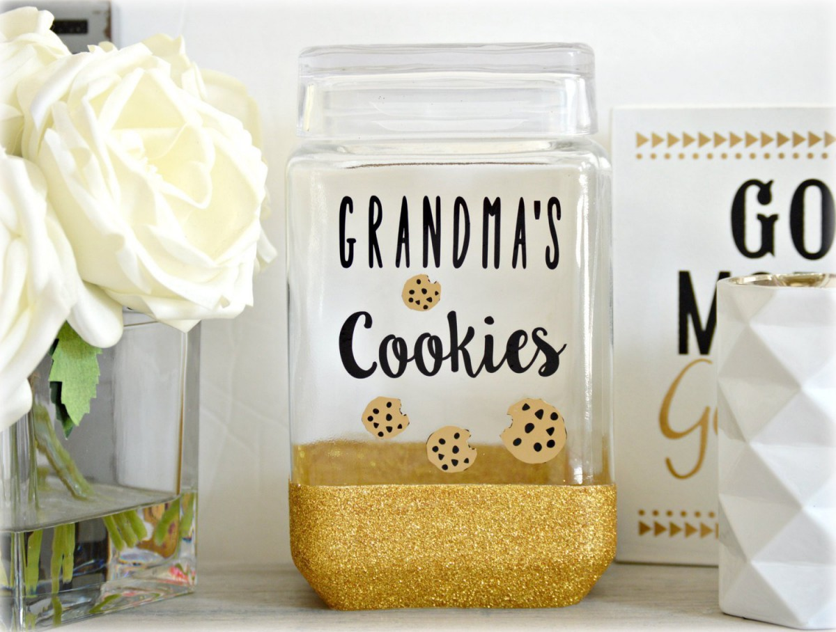 Amazon Com  Cookie Jar, Grandma Cookie Jar, Glitter Cookie Jar
