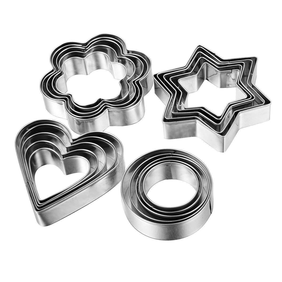 Amazon Com  Home Value 12pc Metal Cookie Cutters  3 Stars Shape, 3