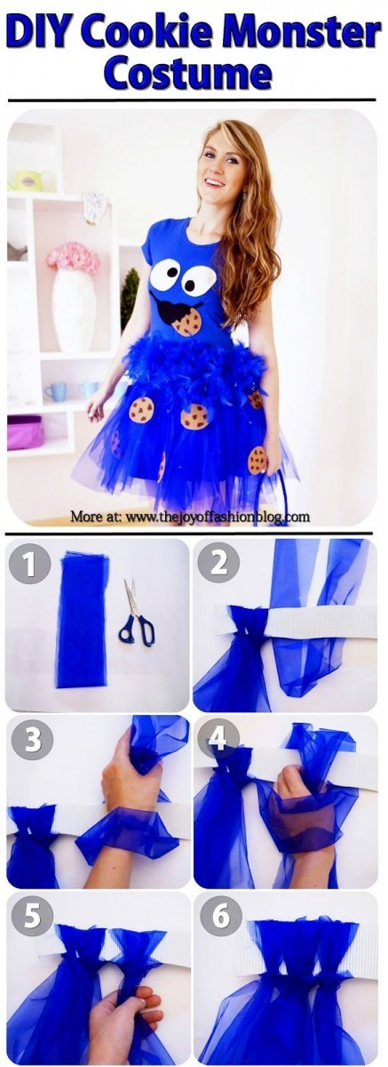 Cookie Monster Costume Tutorial