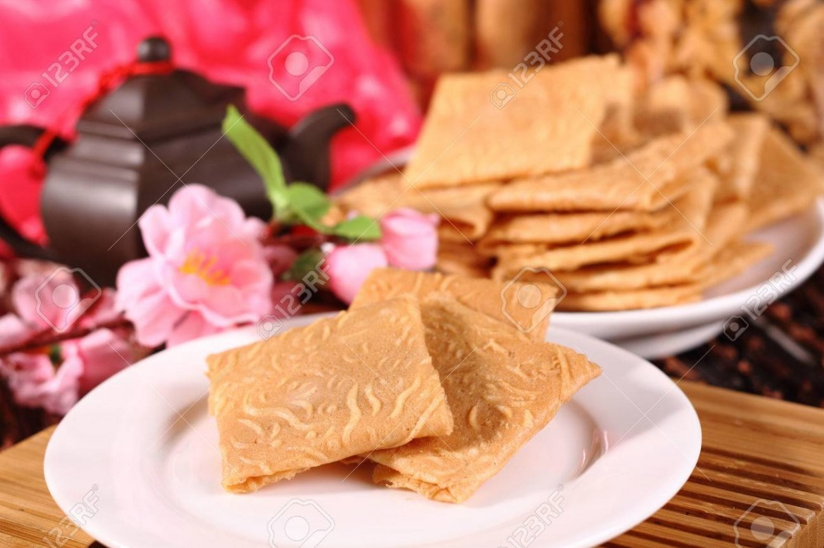 Chinese New Year Cookies Stock Photo, Picture And Royalty Free