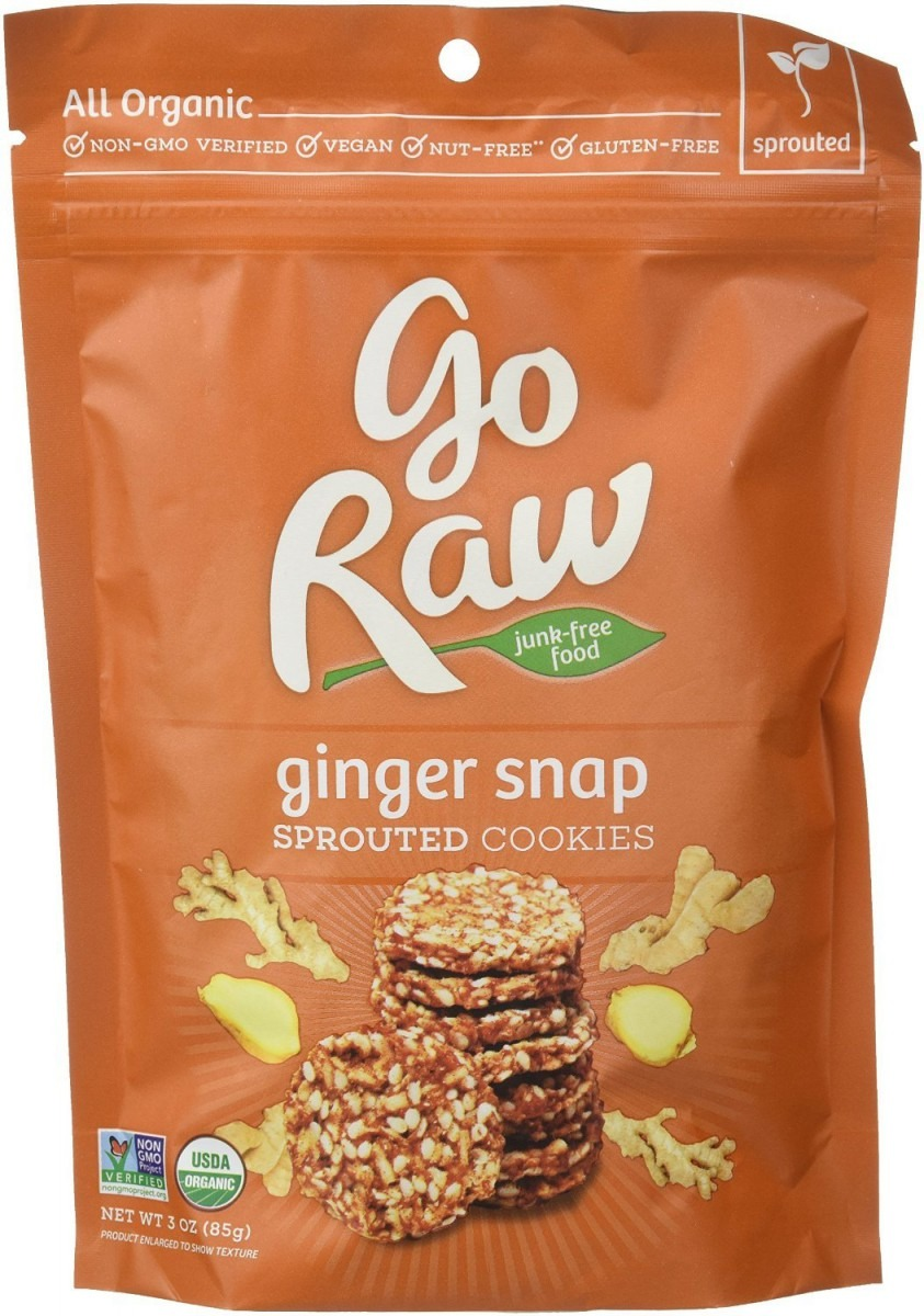 Amazon Com  Go Raw Ginger Snap Cookies, Organic 3 0 Oz(pack Of 3)