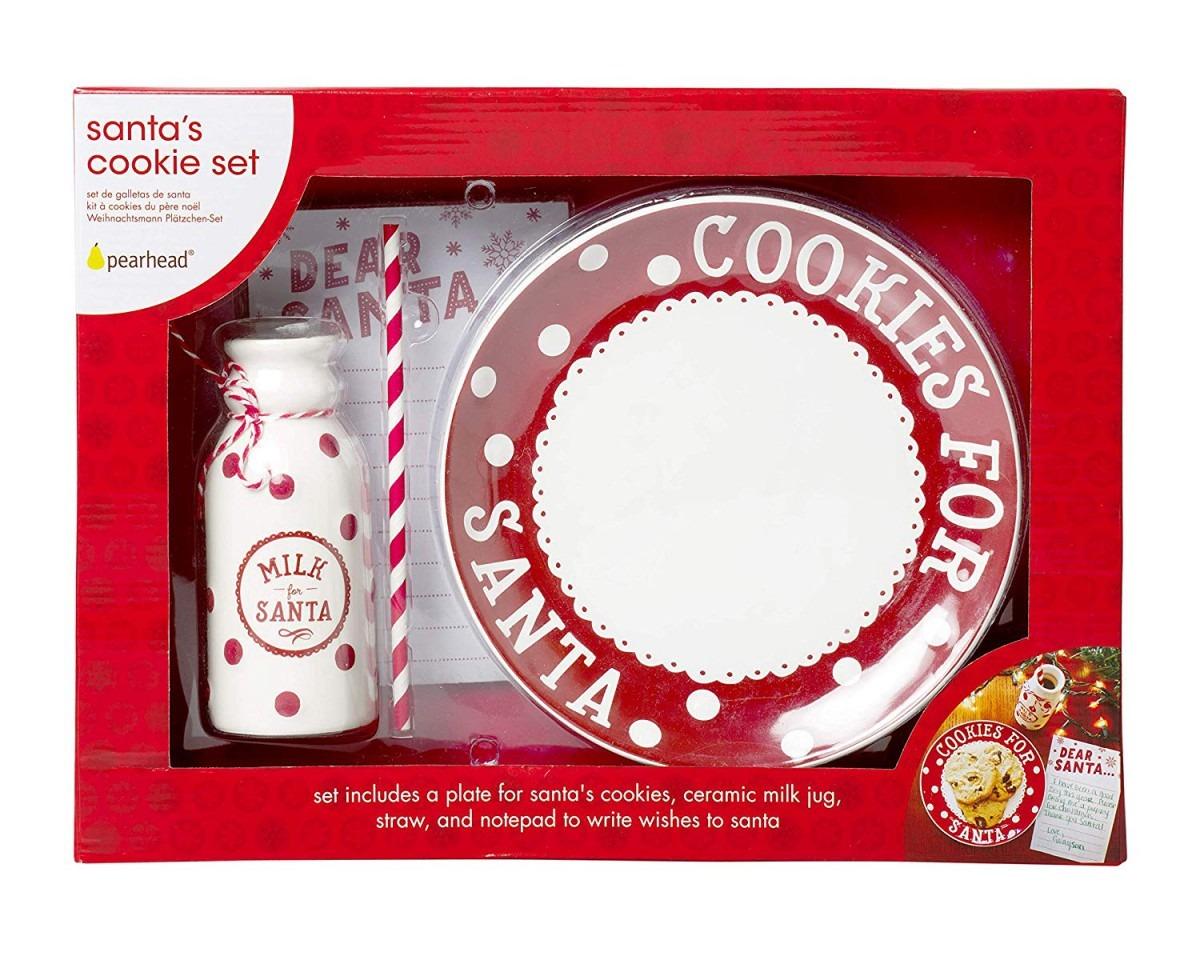 Amazon Com  Pearhead Santa's Cookie Plate Set, Creative Holiday