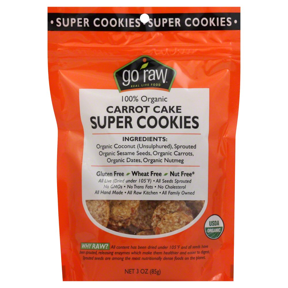 Go Raw, Cookie Super Carrot Cake, 3 Oz, (pack Of 12) 859888000295