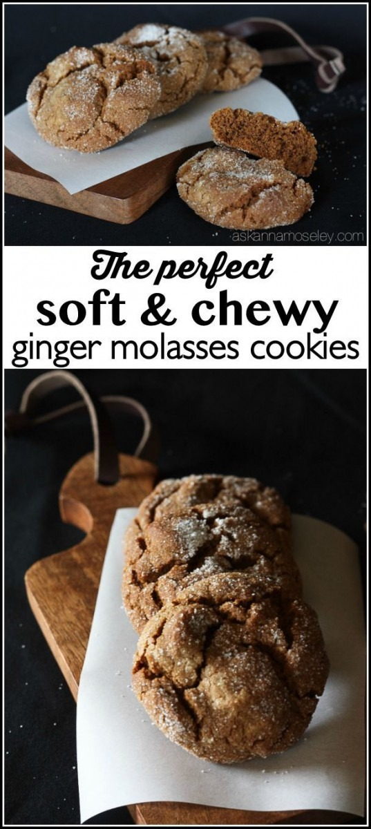 The Perfect, Soft And Chewy, Ginger Molasses Cookies