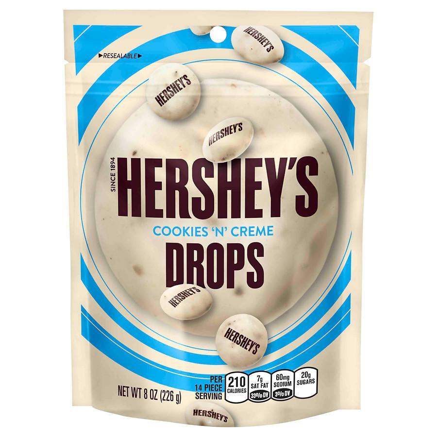 Hershey's Drops Chocolate Bite Size Candy Cookies 'n' Creme