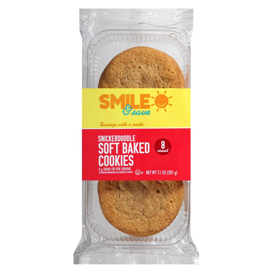 Smile & Save Soft Baked Cookies Snickerdoodle, Snickerdoodle
