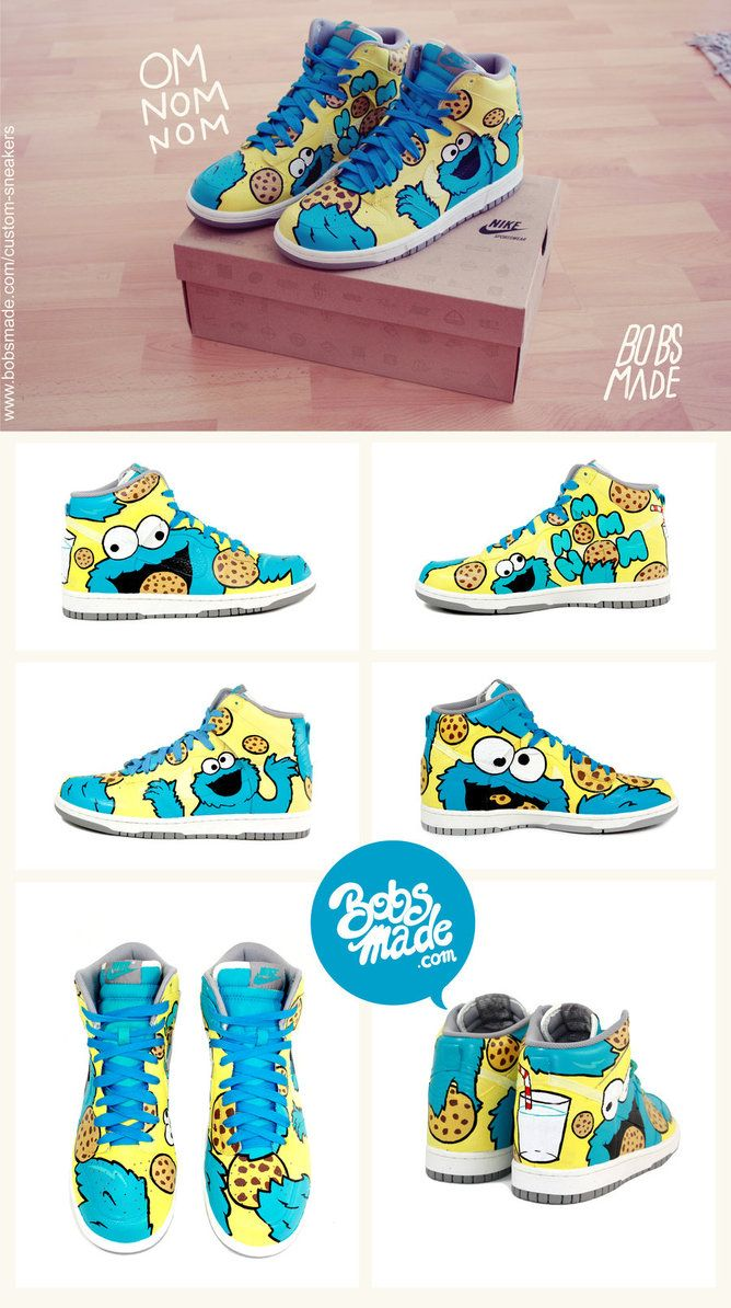 Cookie Monster Shoes By =bobsmade I Want Yup These To Love Me Some