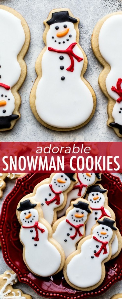 Learn How To Make Adorable Snowman Sugar Cookies With Royal Icing