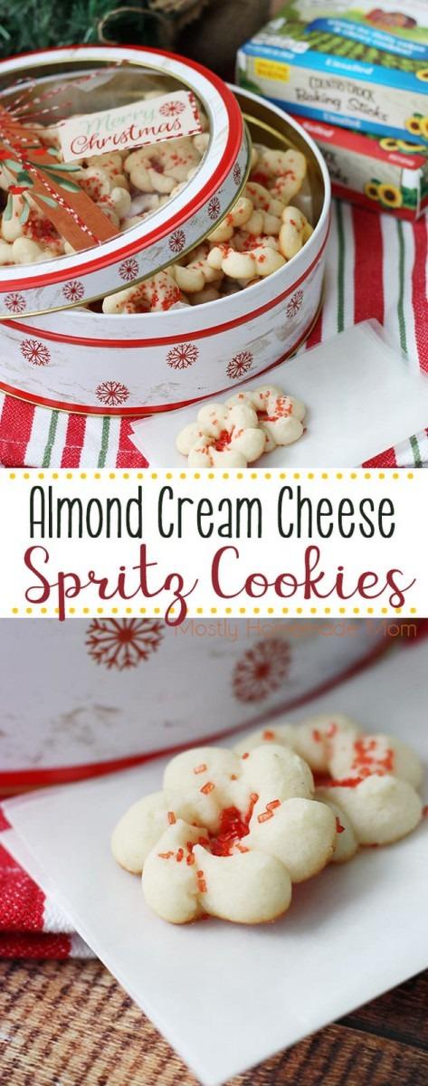 Almond Cream Cheese Spritz Cookies