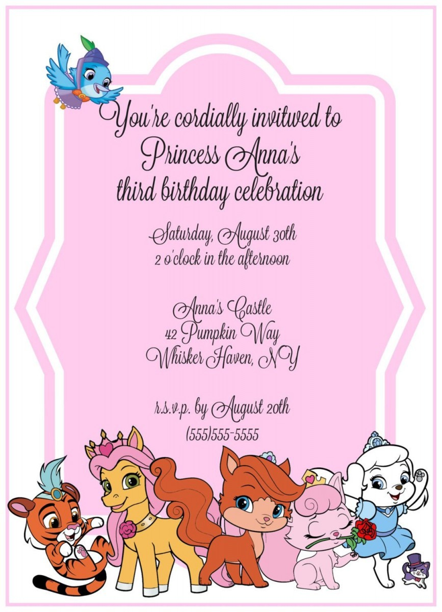 Whisker Haven Birthday Invitations