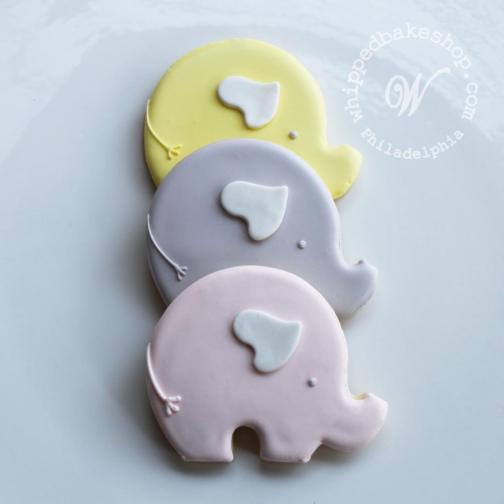 Whipped Bakeshop Philadelphia  Baby Elephant Cookie Favors