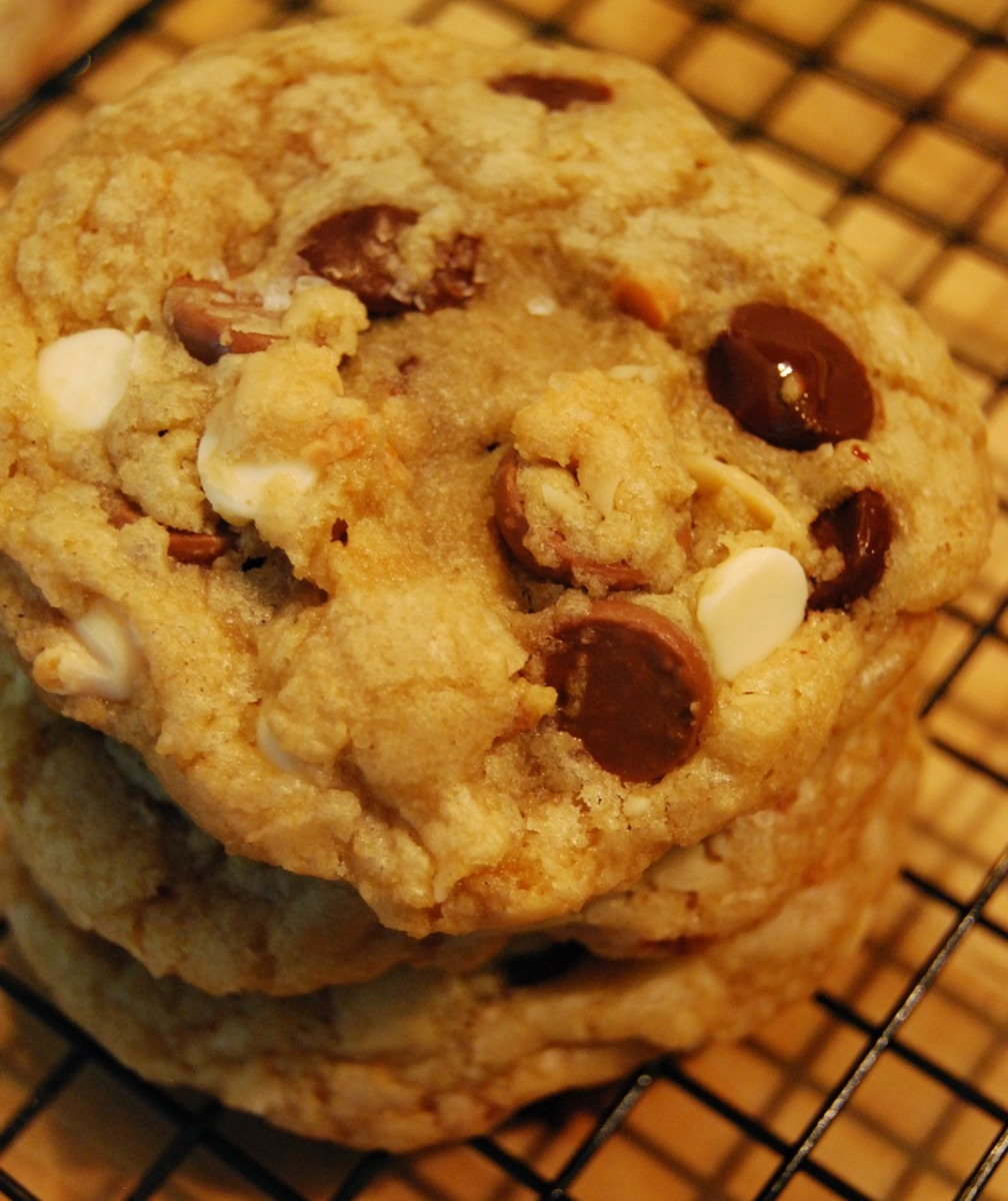 Triple Chocolate Chip Macadamia Nut Cookies