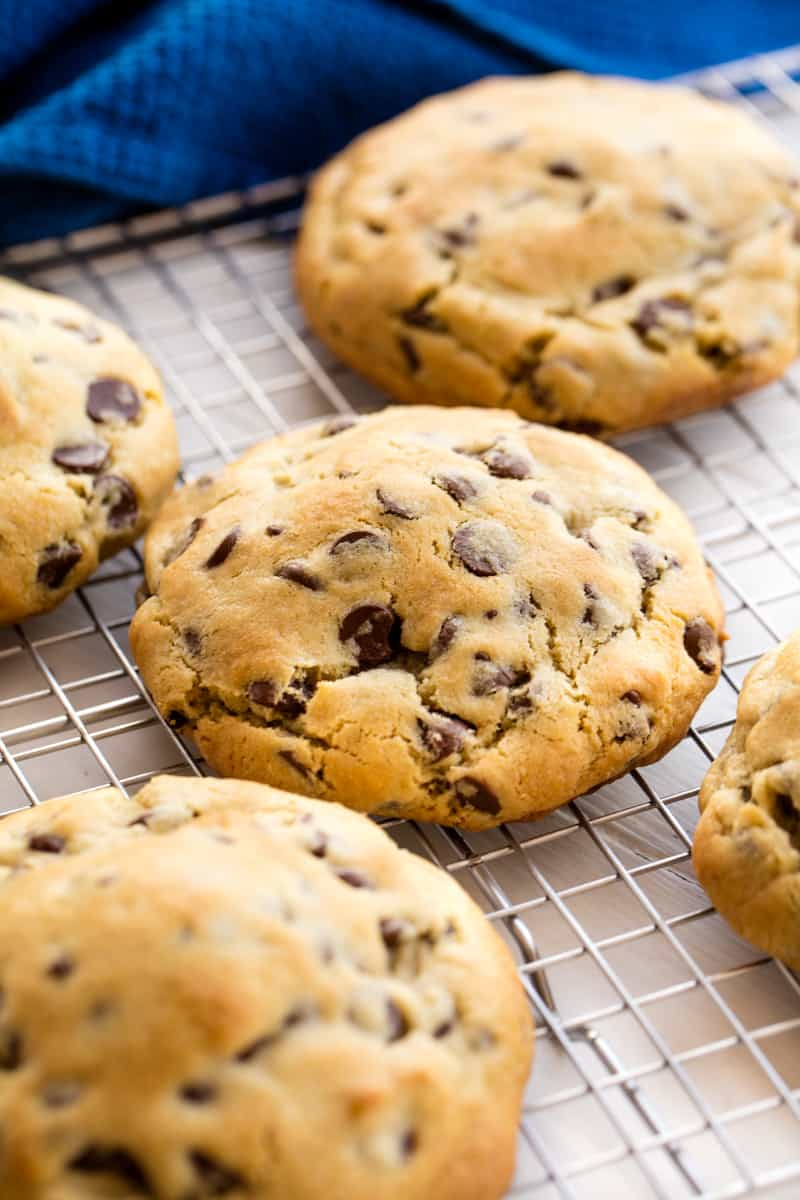 The Ultimate Bakery Style Chocolate Chip Cookies